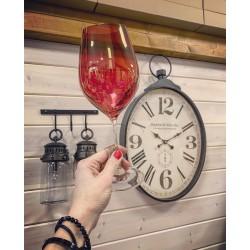 Červené poháre na víno - darčekový set dvoch kusov