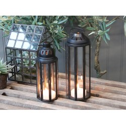 Kovový lampášik Vintage Black - malý
