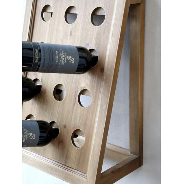 Drevený stojan na víno Wine Time