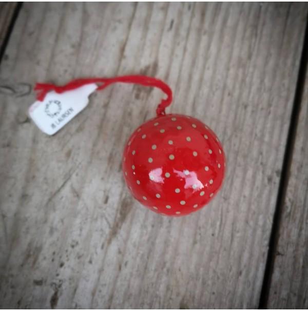Vianočná ozdoba - gulička s bodkami 4 cm