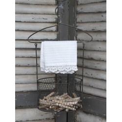 Kovový box s vešiakom Antique