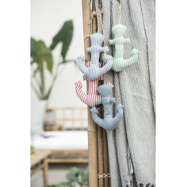 Textilná kotvička - Blue Stripes