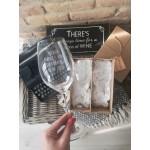 Darčekový set pohárov na víno - ružový
