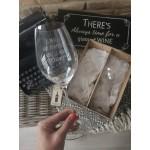 Darčekový set pohárov na víno - biely